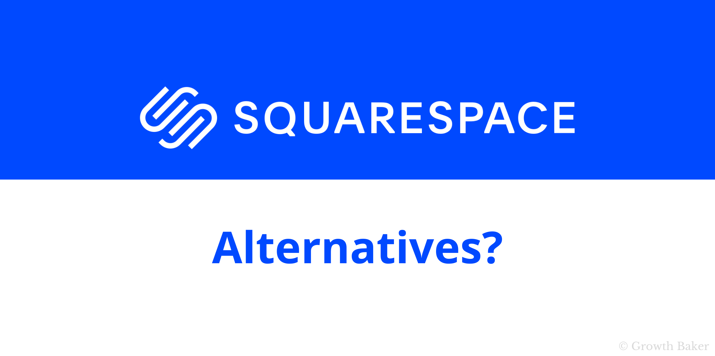 featured image for squarespace alternative